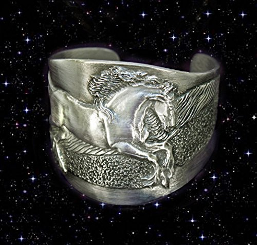 Horse Lady Gifts Friesian Stallion cuff bracelet