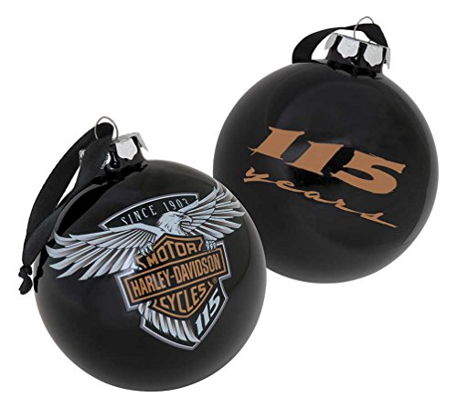 Limited Edition Glass - Harley-Davidson 115th Anniversary Limited Edition Glass Ball Ornament HDX-99101