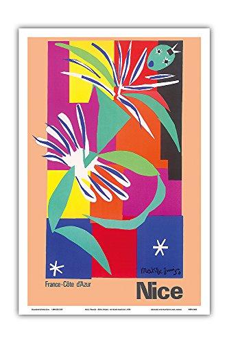 Pacifica Island Art Nice, France - Côte d'Azur - La Danseuse Créole (The Creole Dancer) - Vintage World Travel Poster by Henri Matisse c.1950 - Master Art Print - 12in x 18in