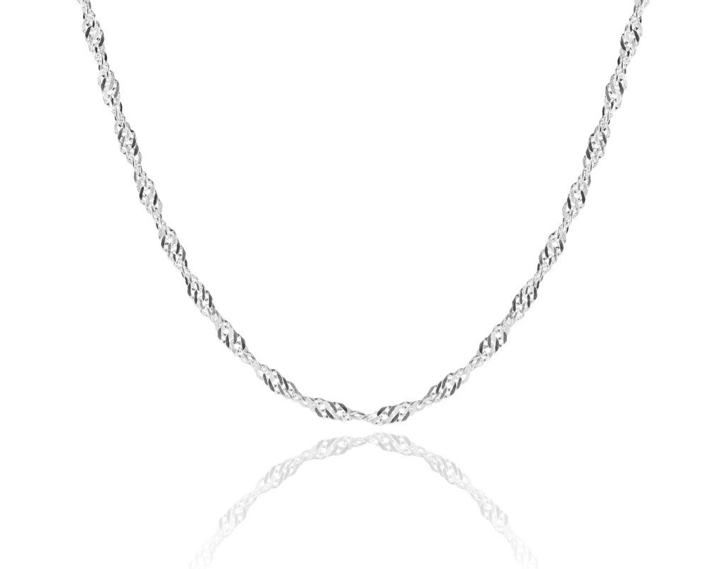 Silvadi Sterling Silver Diamond-Cut Rope Chain 1.5mm Solid 925 Italy New Necklace