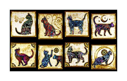 QT Fabrics Purr-Suasion Cat Patches 24in Panel -