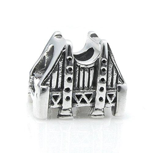 925 Sterling Silver San Francisco Golden Gate Bridge Travel Bead For European Charm - Bridge Francisco San Love