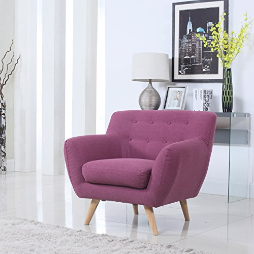 Free Mid Century Purple Modern Living Room Accent Armchair