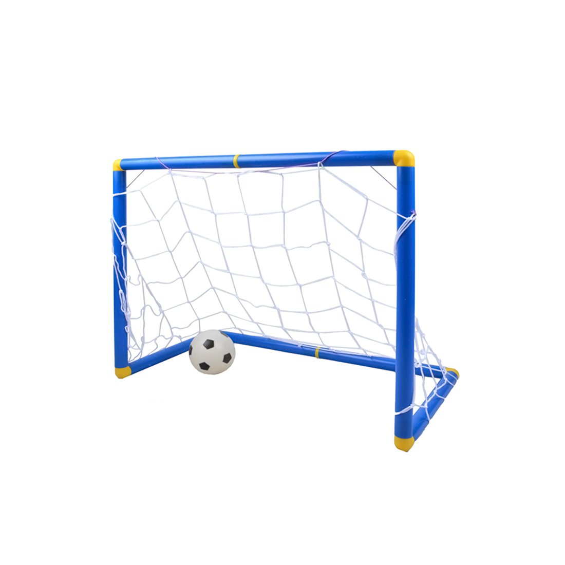 ruiyif Soccer Goal Net for Kids Toddlers Includes Goal with Netサッカーボール手ポンプインドアアウトドア裏庭 S 0422K6M11R B0795F9FSJ S|Blue + White Blue + White S
