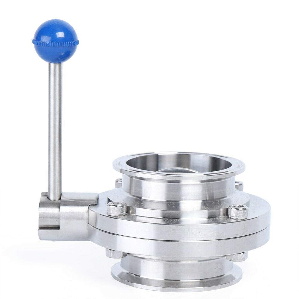 Butterfly Valve with Pull Handle Stainless Steel 304 Tri-clamp Clover 3