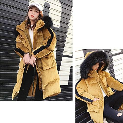 Cotone Plus Collo Inverno Femminile Fxchen Di Cappotto Cappuccio Size Addensare Caldo Donna Imbottito Giacca Pelliccia In Con L 1OFwqFIA