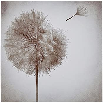 Rivet Faded Dandelion in The Breeze Canvas Wall Art Decor, 30