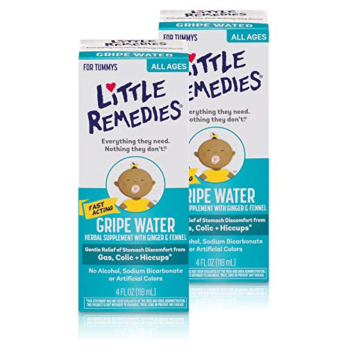 Little Remedies Gripe Water | Herbal Supplement | 4 oz. | Pack of 2 | Gently Relieves Stomach Discomfort from Gas, Colic, and Hiccups | Safe for Newborns by Little Remedies