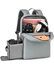 """CADEN DSLR Camera Backpack Bag with Laptop Compartment 14"""" Camera Case Backpack Waterproof with Side Access and Tripod Holder for Photographers Mirrorless Cameras Canon Nikon Sony Pentax Lens etc"""