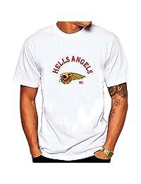 Men's Hells Of Angels Johnny Tee shirt White