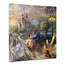 Thomas Kinkade - Beauty and the Beast Falling in Love Open Edition Wrapped Canvas
