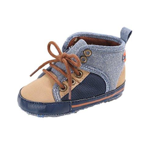Baby Schuhe Auxma Baby weiche Sohle Kleinkind Schuhe Segeltuch erste gehende Schuhe Für 0-18 Monate (11 0-6 M, khaki) khaki
