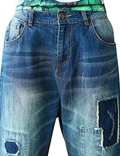 lastique Vintage 1 Taille Femmes Youlee Jeans Style HaqSxgF