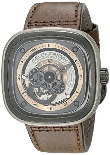 SEVENFRIDAY Men's P2-1 Revolution Analog Display Japanese Automatic Brown Watch