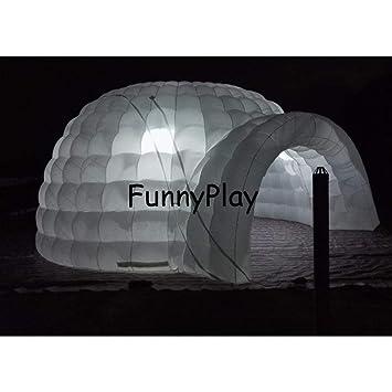 F&zbhzy Carpa Tienda de Domo de iglú Inflable Hinchable para ...