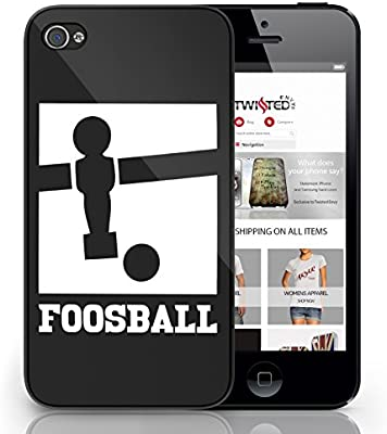 Negro para iPhone 6 futbolín diseño lindo Cool Sexy Quirky ...