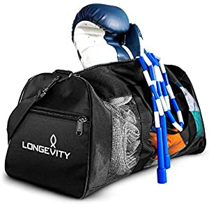 Longevity Gear Mesh Bag – Breathable Duffel Bag for Sweaty Clothes and Equipment