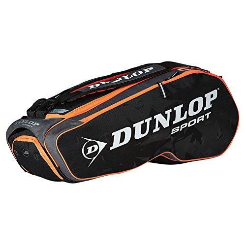 - Dunlop T817199 Performance 8 Pack Tennis Bag Black and Orange