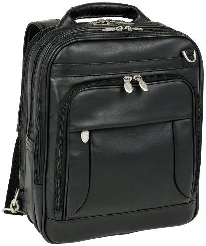 McKleinUSA Lincoln Park 41655 I Series Full Grain Cashmere Napa Leather Three-Way Computer Briefpack (Black) by McKlein