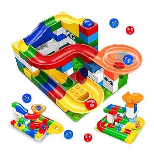 PampasSK Blocks - 52Pcs Construction Marble Race Run Maze Balls Track Building Blocks Big Size Educational Bricks Compatible with Legoed Duploed 1 PCs