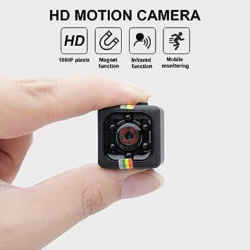 Boruit Sq11 Mini Cámara Full Hd 1080p Con Sensor Portátil De Visión Nocturna Para Videocámara Micro Deportes Con Detección De Movimiento Mini Grabadora De Vídeo Dv Para El Hogar El
