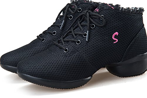 White Up Trainer Dance Lace Dance VECJUNIA Ladies Shoes Lace qOTzvv