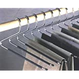 OPEN END NON SLIP TROUSER HANGERS. NO NEED TO REMOVE THE HANGER TO REMOVE YOUR TROUSERS. SET of 12