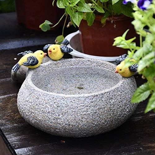庭の装飾クリエイティブコイングラス水耕鳥フラワーポット樹脂クラフト庭の庭の芝生風景装飾ギフトA 24×24×12センチ