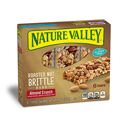 Roasted Sweet Fruit (Nature Valley Granola Bars, Roasted Nut Crunch, Almond Crunch, 6 Bars - 1.2 oz (Pack of 6))