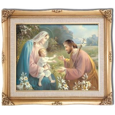 Holy Family Framed Art by Discount Catholic Store