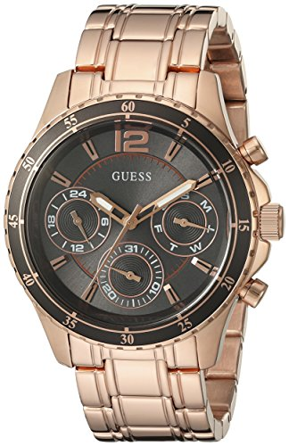 Watch Modern Dial Multifunction (GUESS Women's U0639L2 Modern Classic Rose Gold-Tone Watch with Grey Multi-Function Dial)