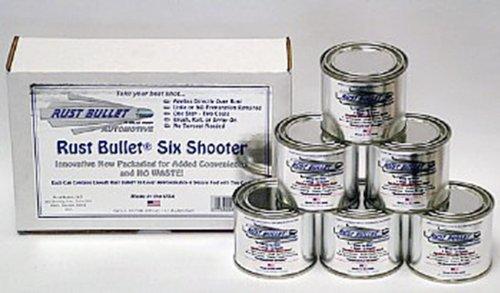 UPC 856084000821, Rust Bullet RBASS82 Automotive Six Shooter Pack, Metallic Gray (Pack of 6)