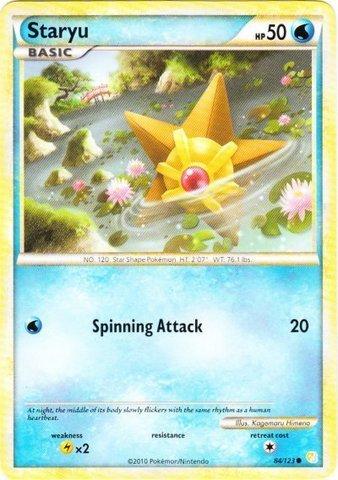 Pokemon - Staryu (84/123) - HeartGold SoulSilver - Reverse Holo