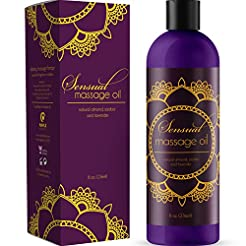 Sensual Massage Oil with Relaxing Lavend...