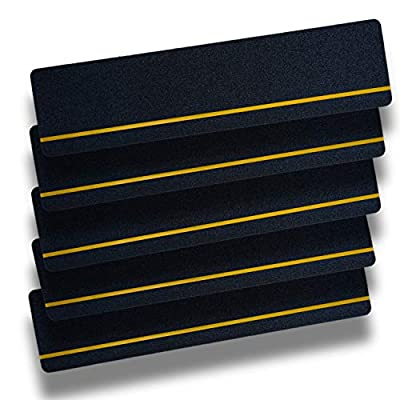 """S&X Non-Slip Tape,Indoor & Outdoor,Reflective Yellow Stair Safety Treads,6"""" X 24"""",5 Pcs/Pack"""