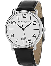 Stuhrling Original Men's 695.01 Symphony Analog Display Swiss Quartz Black Watch