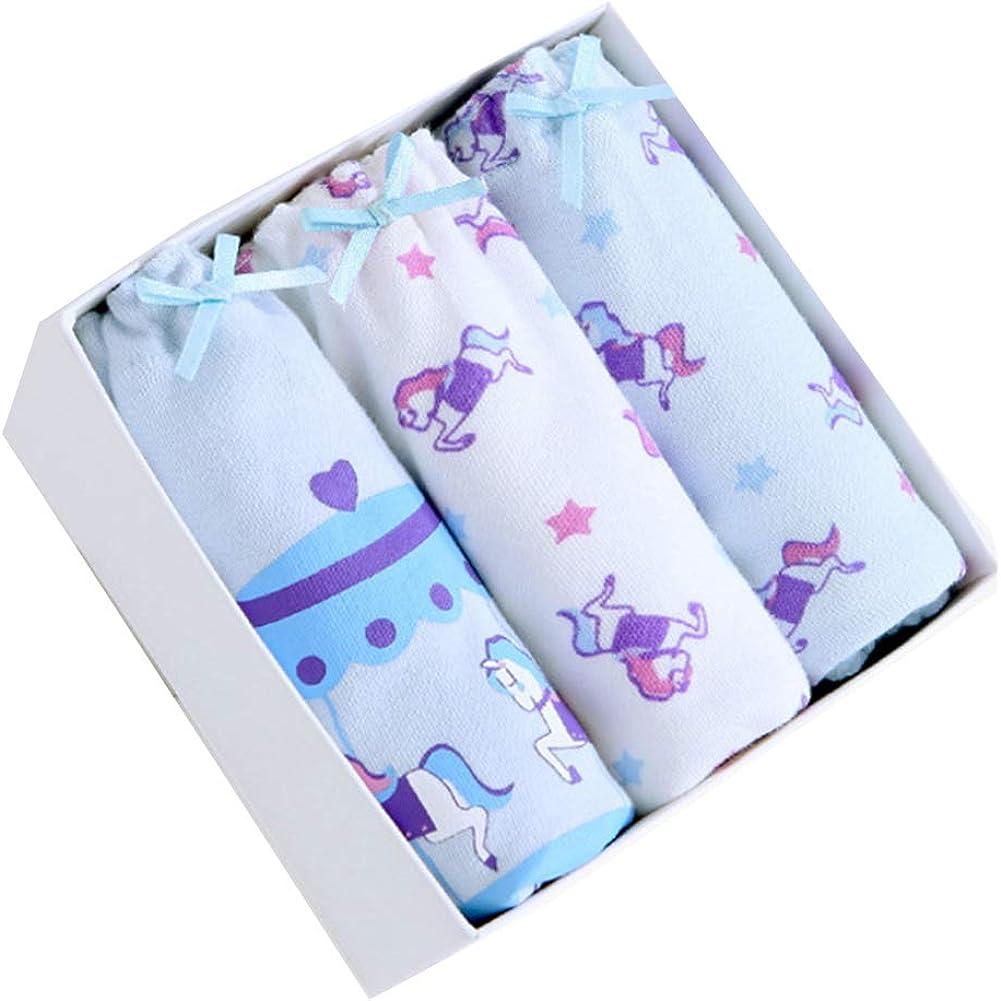 Mengyu Girls Underwear Briefs Panties Soft Underpants Pack of 3