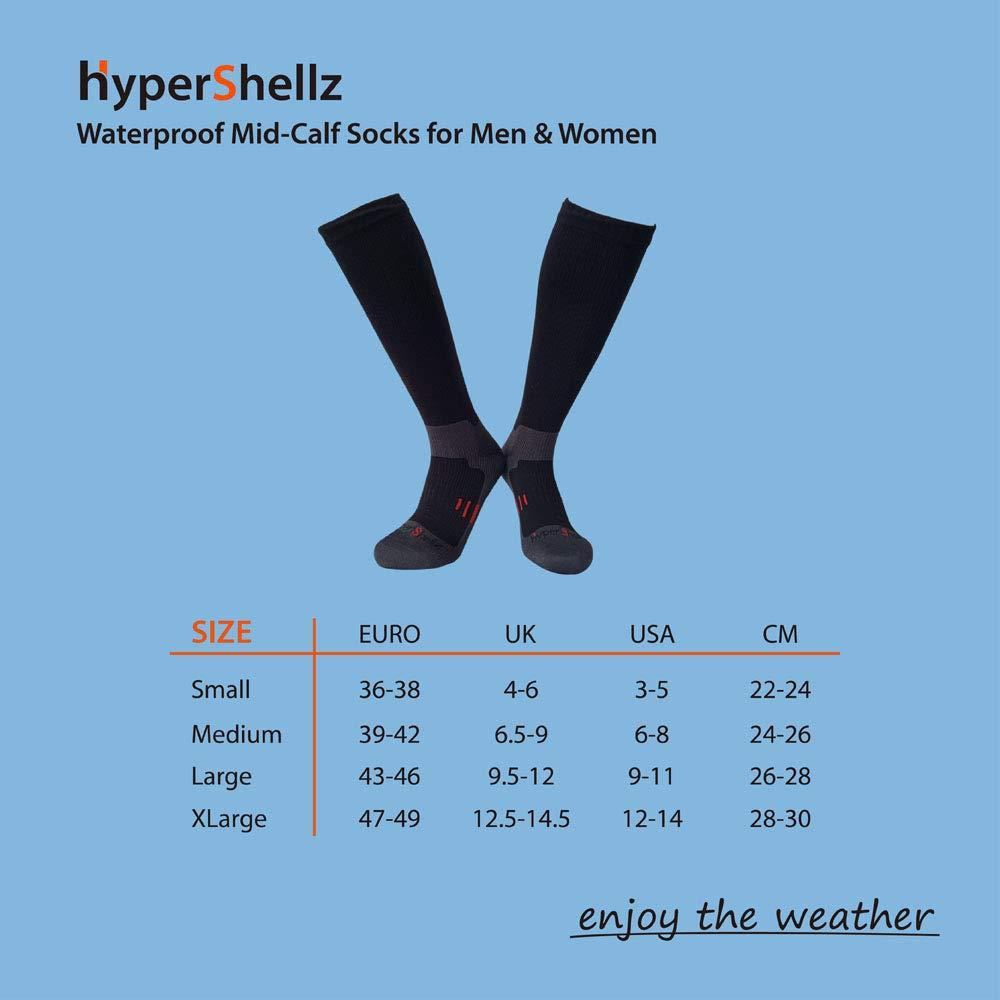 HyperShellz Waterproof Socks for Outdoor Sports Running Cycling Hiking Unisex Knee High Merino Wool Socks