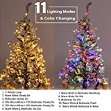 Brizled Christmas Lights, 65.67ft 200 LED Tree