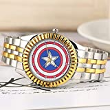 Unique Captain America's Shield Pattern Watch for