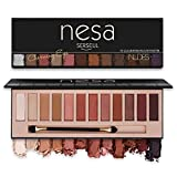 Serseul Nudes Eyeshadow Palette Matte Shimmer 12 Color Highly Pigmented Eye Makeup Creamy Texture Blendable and Long Lasting Cruelty Free Nude D