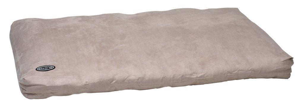 Beige 47 in x 39 inBuster Memory Foam Dog Bed, 100 x 70 cm, Grey