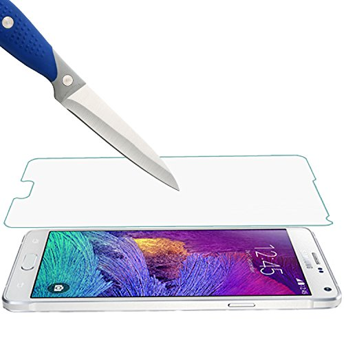 [3-PACK] - Mr.Shield For Samsung Galaxy Note 4 [Tempered Glass] Screen Protector [0.3mm Ultra Thin 9H Hardness 2.5D Round Edge] with Lifetime Replacement