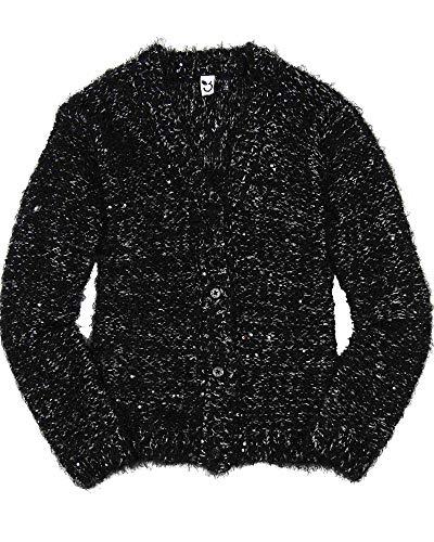 3 Pommes Girl's Chunky Knit Cardigan, Sizes 4-12 - 6