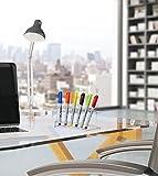 AdirOffice Vertical 6 Slot Display Stand Pack of 2