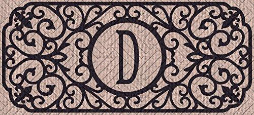 Evergreen Flag 431241DBL Filigree Monogram Letter D Embossed Sassafras Switch Mat