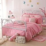 Perfect Gift For Girls Polka Dot Princess Pink Polka Dot Bedding Princess Bedding Girls Bedding Duvet Cover Set, Full Size