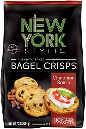 New York Style Bagel Crisps, Cinnamon Raisin, 7.2 Ounce (Pack of 12)