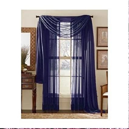 navy sheer curtains living room monagifts panels navy blue sheer voile window panel curtains 59quot width 84quot amazoncom