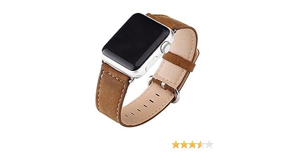 Cuitan Durable Cuero Watch Band para 38mm Apple Watch iWatch, con Adaptador Banda Muñeca Correa de Reloj Reemplazo Reloj Muñeca Band Watchband Strap ...